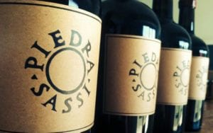 Piedrasassi wine bottles