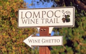 Lompoc wine trail sign