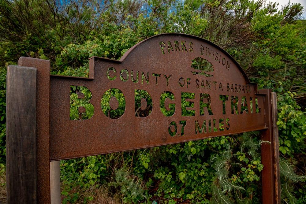 Bodger trail Lompoc sign